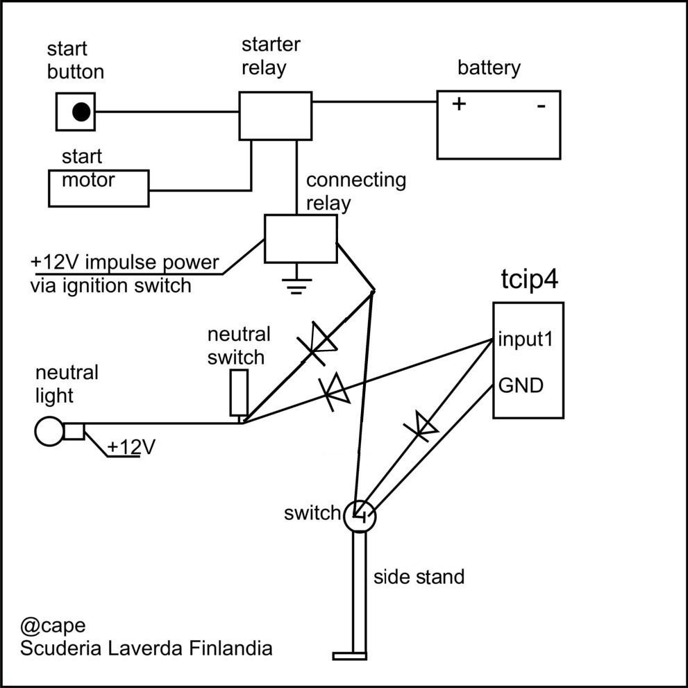 control the ignition starter rh laverdaforum com Schematic Circuit Diagram Schematic Circuit Diagram